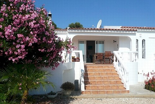 The main villa entrance.