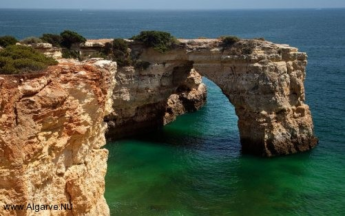 Beautiful rock formations in the Algarve, Portugal.
