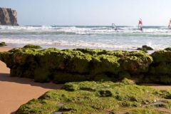 One of the many beaches in the Algarve, also perfect for windsurfing.
