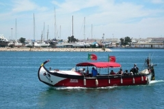 A picture of the river Arade ferry.